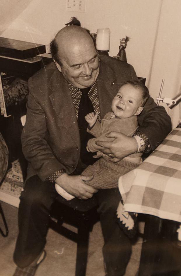 Felix Ackermann z dziadkiem Gotfriedem