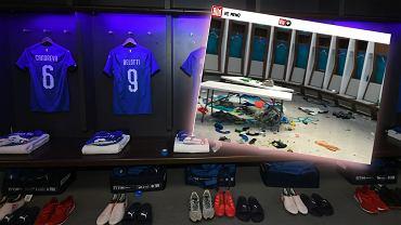 Włoska szatnia przed i po finale na Wembley