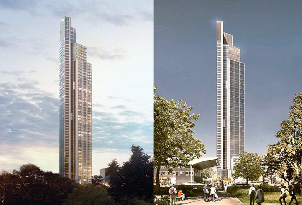 Robocza wizualizacja 310-metrowego wieżowca - autor nieznany