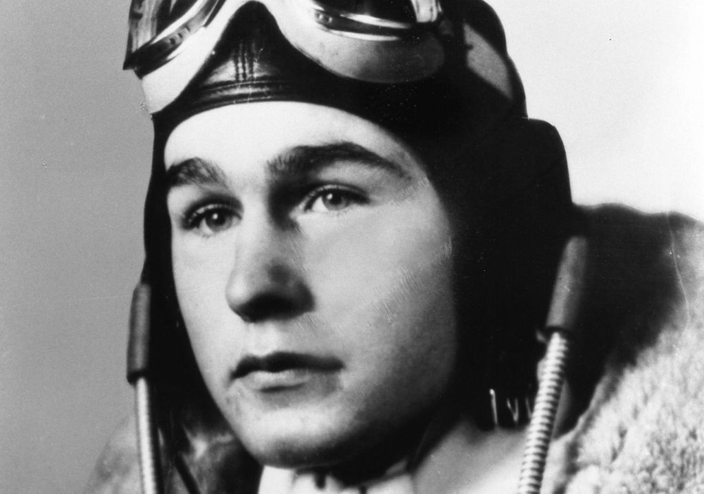 George Herbert Walker Bush pilot US Navy, 1942 rok.