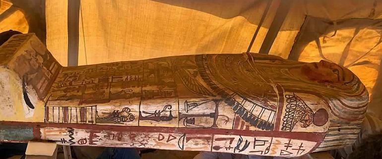 27 sarkofagów odkrytych w Egipicie. Nie były otwierane od czasu pochówku