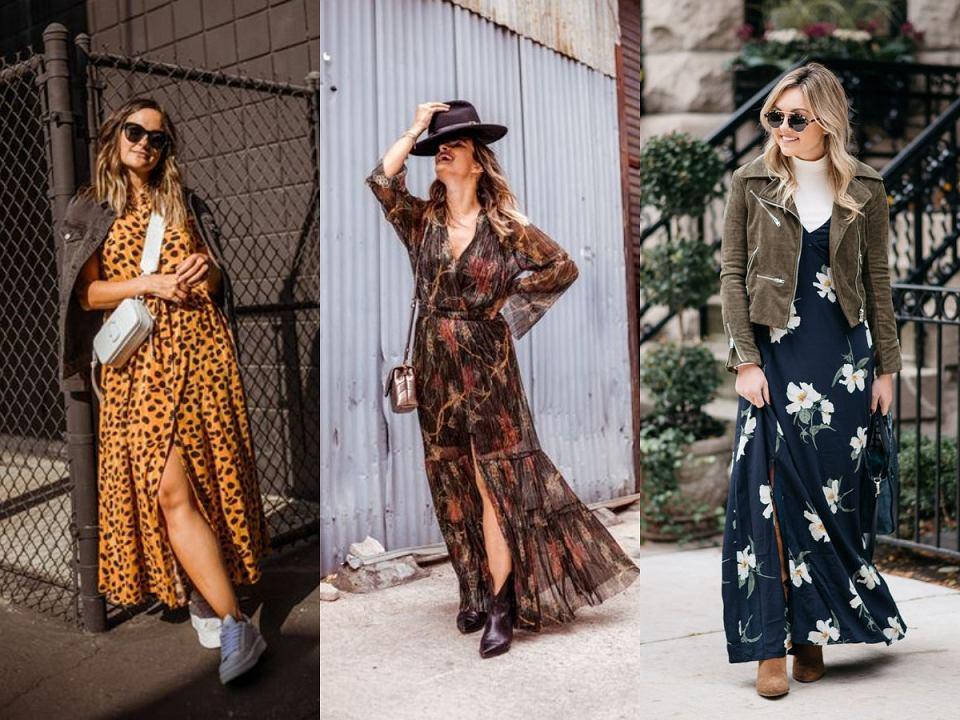 Sukienki maxi stylizacje
