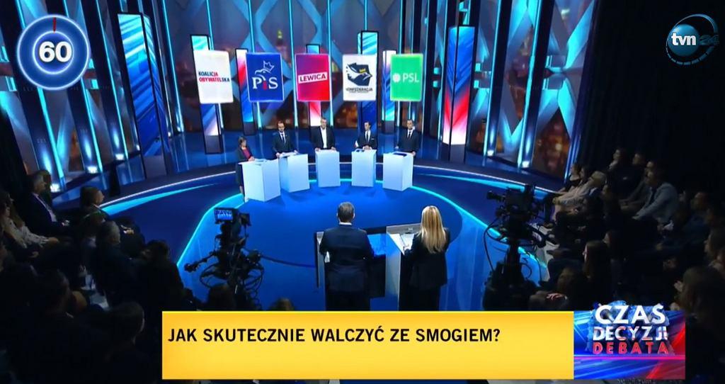 Debata przedwyborcza w TVN24