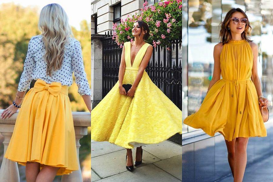 Stylizacje w odcieniach zółtego