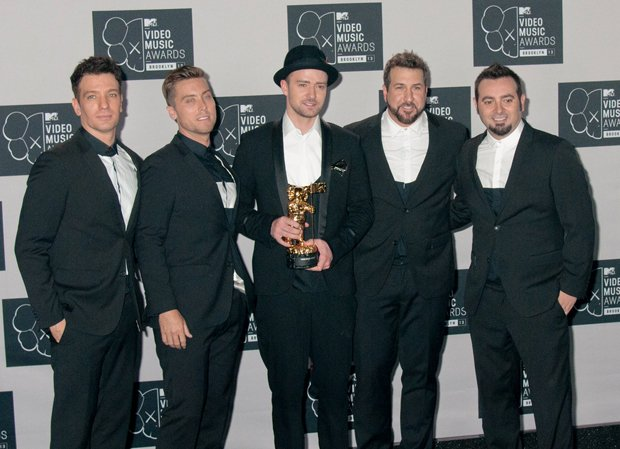 08/25/2013 - N'Sync - 2013 MTV Video Music Awards - Press Room - Barclays Center - New York City, NY, USA - Keywords: JC Chasez, Lance Bass, Justin Timberlake, Joey Fatone and Chris Kirkpatrick of N'Sync , Viacom Media Networks, MTV Networks, VMA, V.M.A. Orientation: Portrait Face Count: 1 - False - Photo Credit: Janet Mayer / PRPhotos.com - Contact (1-866-551-7827) - Portrait Face Count: 1