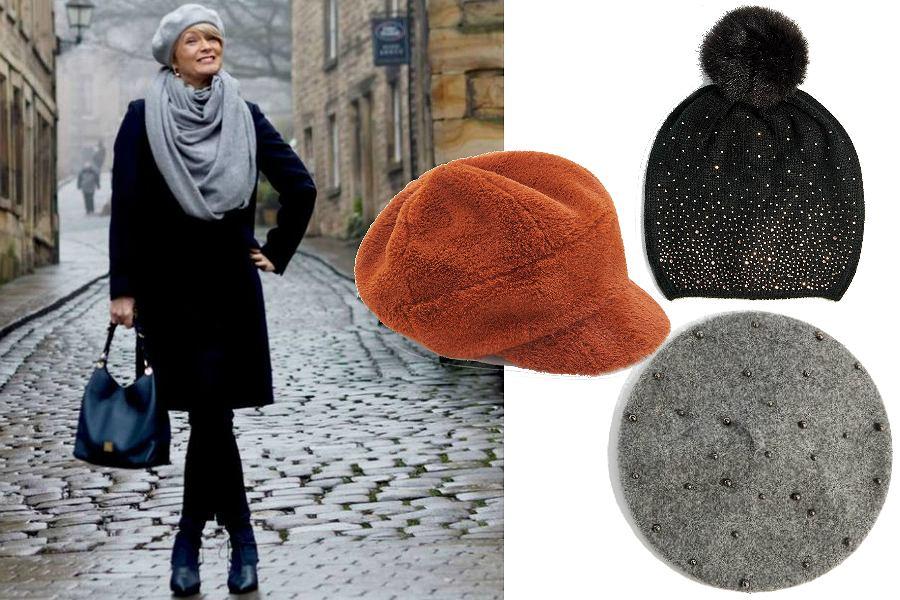 Zimowe dodatki dla dojrzałych kobiet - czapki