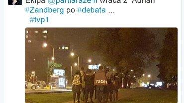 Adrian Zandberg i partia Razem wracają z debaty