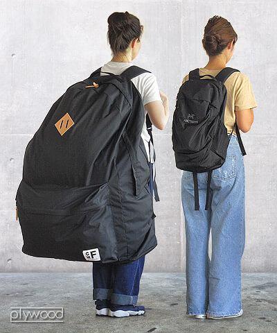 Tak wygląda produkt japońskiej marki CWF w porównaniu z tradycyjnym plecakiem