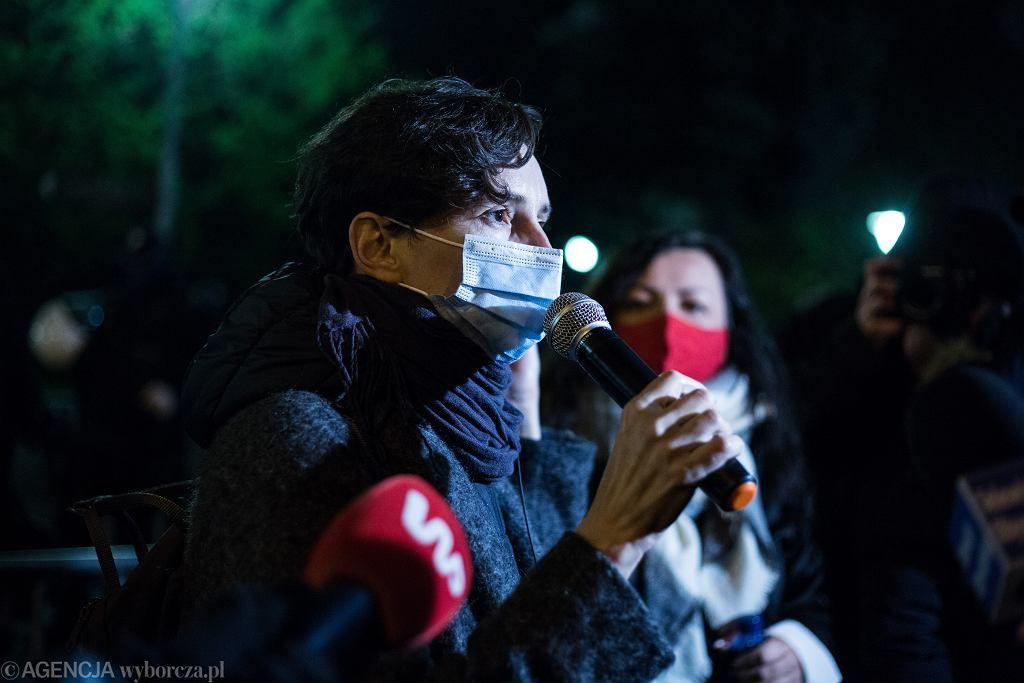 Blokada ulic w Warszawie