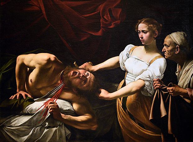 'Judyta odcinająca głowę Holofernesowi', Caravaggio
