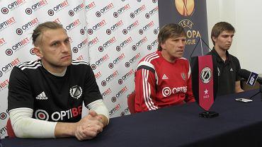 Kapitan Kalju Nomme Vitali Teles i trener Igor Prins