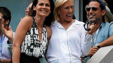 Martina Navratilova i Julia Lemigowa na meczu Kei Nishikori - Novak Djoković