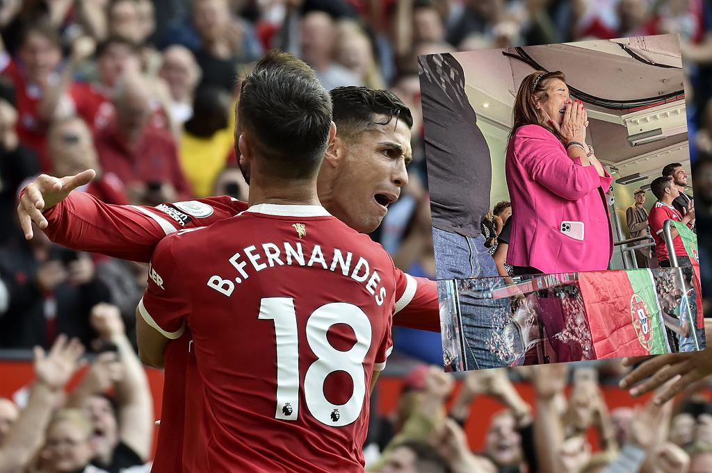 Mama Cristiano Ronaldo na meczu Manchester United - Newcastle