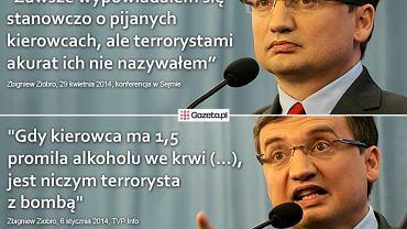 Zbigniew Ziobro o pijanych kierowcach