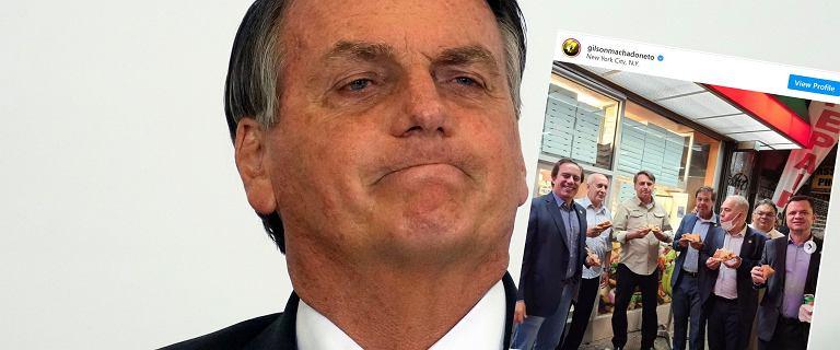 Prezydent Brazylii jadł pizzę na chodniku. Nie mógł wejść do lokalu w NYC
