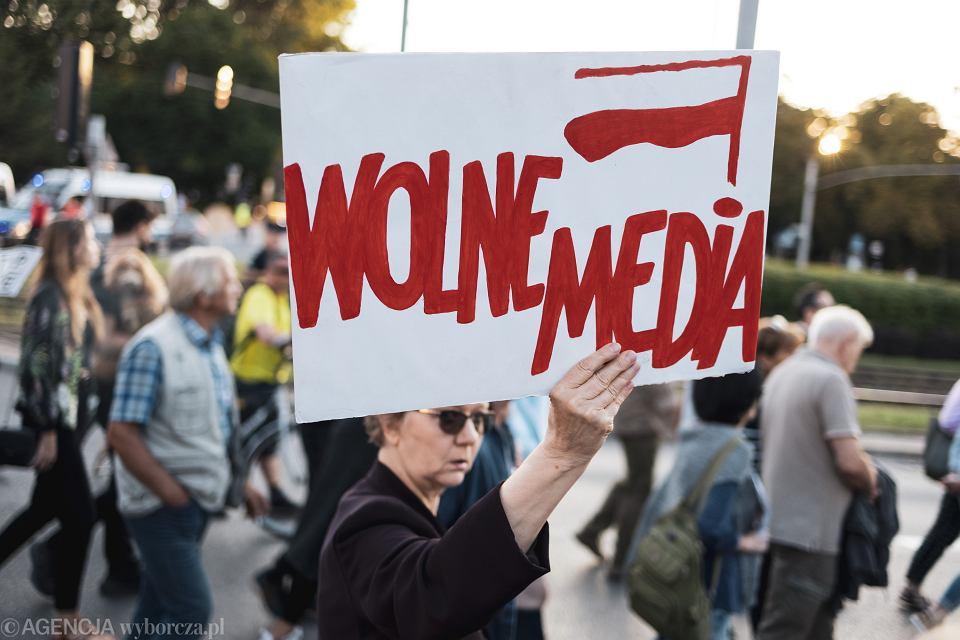 Protest w Gdńsku przeciwko 'Lex TVN', 12 sierpnia 2021 r.