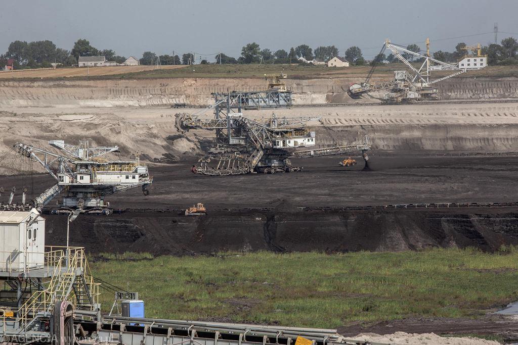 Stawiska k. Konina, kopalnia odkrywkowa węgla brunatnego