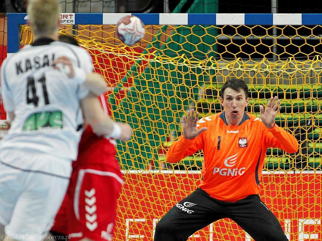 Sławomir Szmal w meczu Polska - Czechy w Spodku