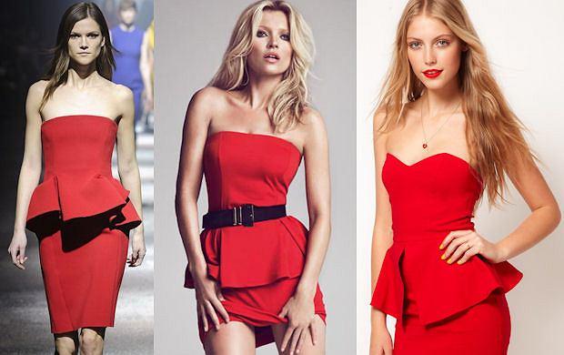 Drożej taniej: Czerwona sukienka z baskinką Lanvin