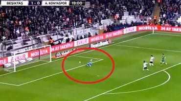Loris Karius popełnił błąd w meczu Besiktas - Konyaspor