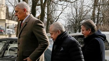 Roman Giertych,  Jacek Dubois i Gerald Birgfellner w drodze do prokuratury, Warszawa 11.02.2019.
