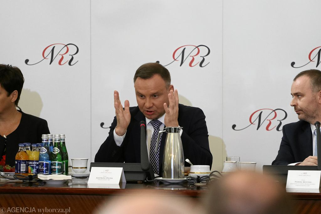 Posiedzenie Narodowej Rady Rozwoju w sprawie referendum konstytucyjnego prezydenta Andrzeja Dudy