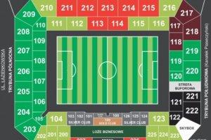 Nowy podział sektorów na stadionie Legii