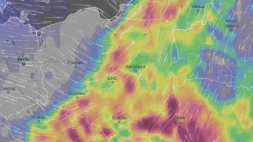 Popołudniowe burze nad Polską