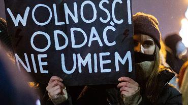 Strajk Kobiet w Krakowie, 27 stycznia 2021.