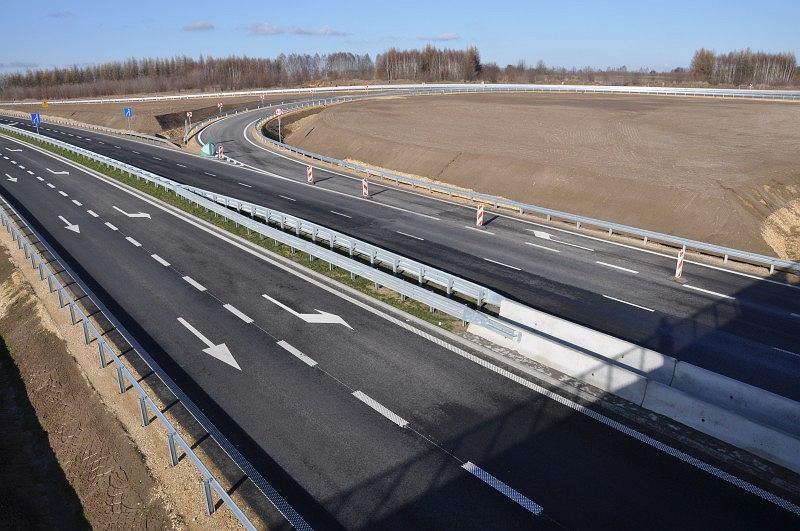 Węzeł 'Częstochowa Jasna Góra' na autostradzie A1 tuż przed otwarciem