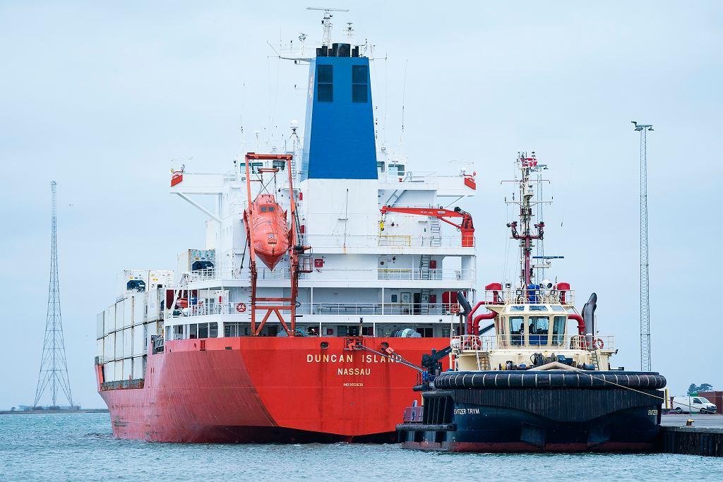 Dania. Na statku Duncan Island znaleziono 100 kg kokainy. Wśród zatrzymanych są Polacy (zdjęcie ilustracyjne)