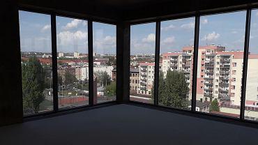 Stettiner Business Center. Widok z okien na Niebuszewo