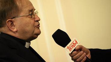 Ojciec Tadeusz Rydzyk podczas posiedzenia sejmowej Komisji Kultury i Środków Przekazu