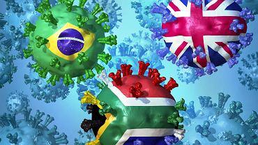 Potoczne, przyjęte nazwy wariantów SARS-CoV-2 najczęściej są związane z krajem, w którym dany wariant został po raz pierwszy wykryty. To wcale nie musi pokrywać się z ich pierwotnym źródłem.