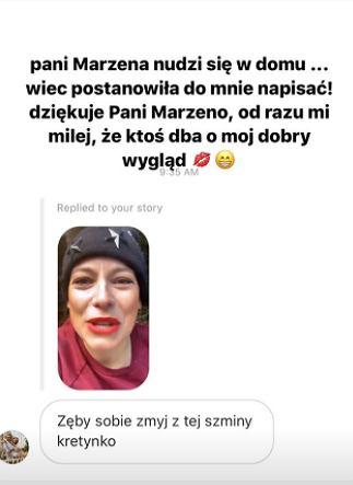 Anna Mucha pokazała wiadomość od obserwatorki
