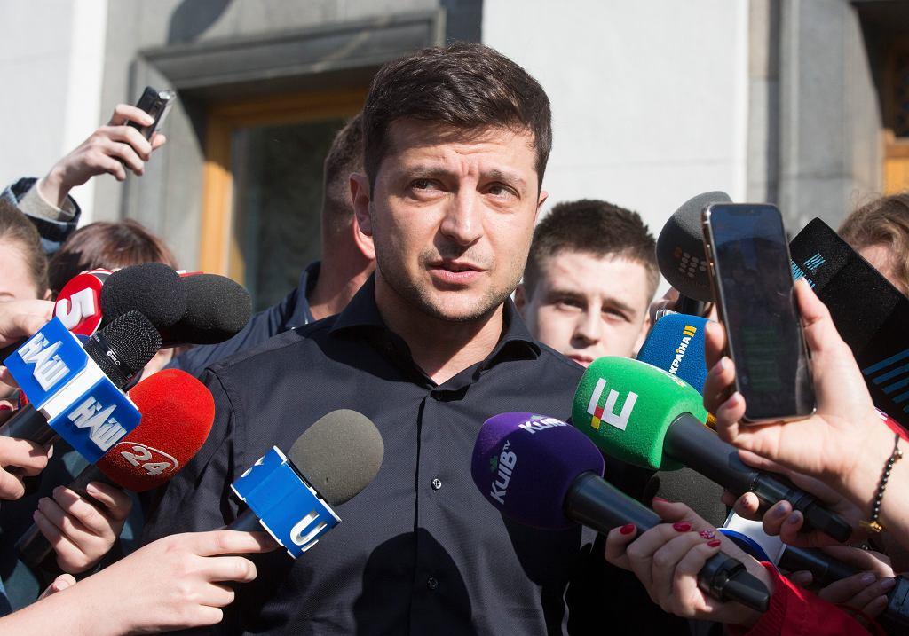 Ukraiński prezydent elekt Wołodymyr Zełenski
