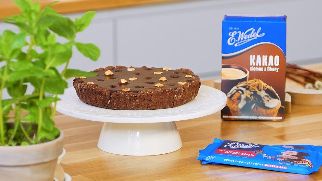 Mazurek kajmakowy z czekoladą