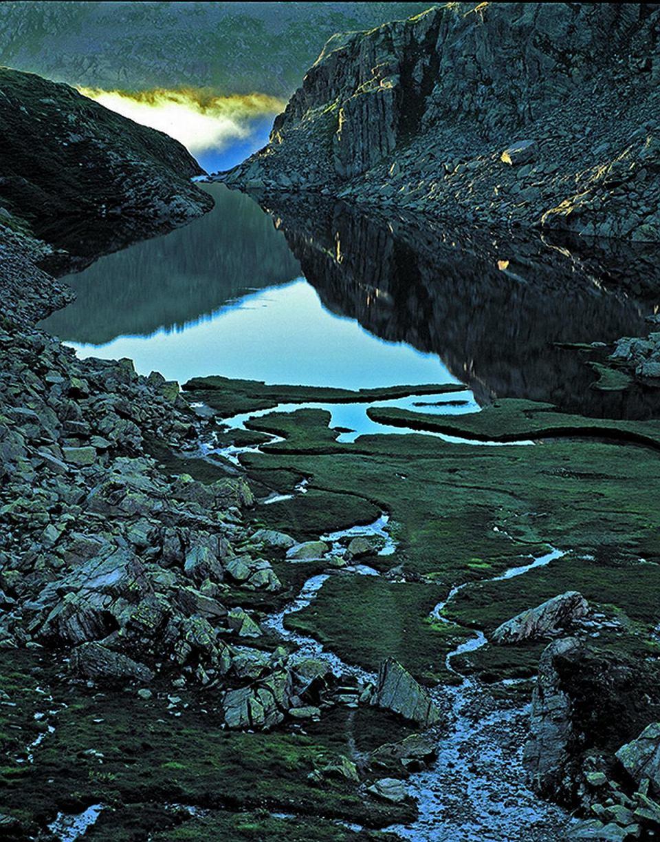 Górskie jezioro Toma