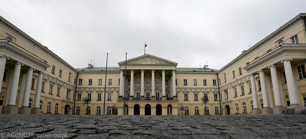 Dziedziniec stołecznego ratusza po rewitalizacji. Warszawa, 27 listopada 2017