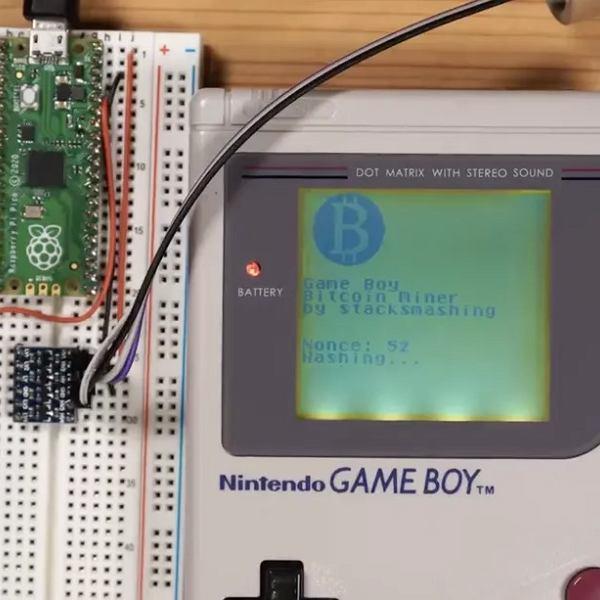 Koparka do kryptowalut z Game Boya