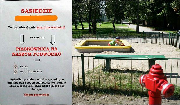 Mieszkańcy warszawskiego osiedla nie chcą piaskownicy dla dzieci. 'Mieszkania stracą na wartości'