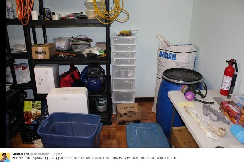 Diler narkotyków opublikował w sieci zdjęcia swojego laboratorium