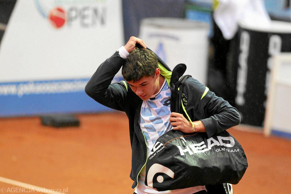 Kamil Majchrzak, jeden z tenisistów pracujących z Mieczysławem Bogusławskim