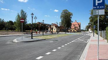Okolice dworca w Twardogórze po rewitalizacji