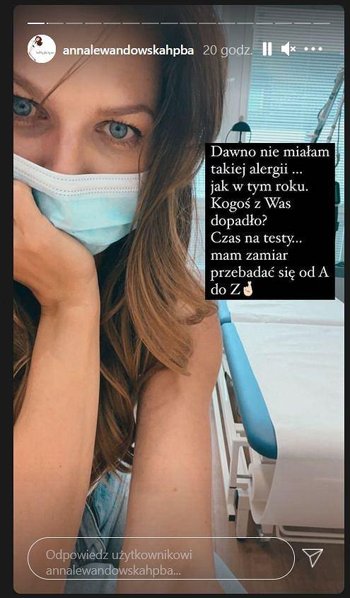 Anna Lewandowska o alergii