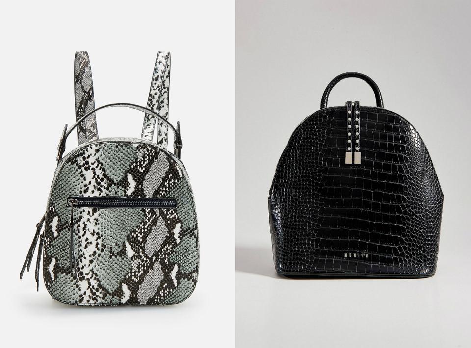 Eleganckie plecaki ze zwierzęcym printem