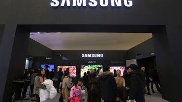Stoisko Samsung Electronics podczas targów przemysłowych w Seulu, Korea Południowa 30.01.2019