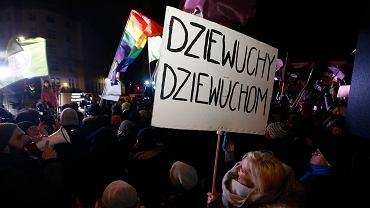 Miarka się przebrała! Protest kobiet pod Sejmem, Warszawa 13 stycznia 2018