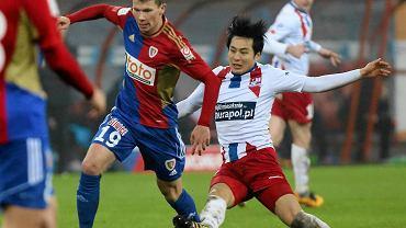 Kohei Kato w meczu z Piastem Gliwice