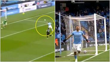 Sergio Aguero zdobył dwie bramki i pobił rekord Wayne'a Rooneya w meczu z Evertonem